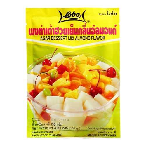 Gelatina Agar Agar Importada Sobremesa Vegetariana sabor Amendoas 130g