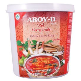 Pasta Curry Vermelho Aroy-d Tailandes 1kg Lq Th