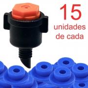 Microaspersor MA30 + Chula - 15 Unidades de Cada