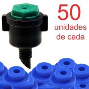 Microaspersor MA50 + Chula - 50 Unidades de Cada