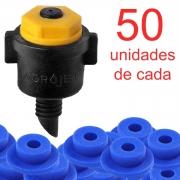 Microaspersor NA1 + Chula - 50 Unidades de Cada
