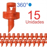 Microaspersor Single Piece 360º - 15 Unidades