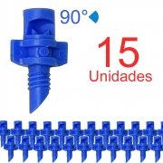 Microaspersor Single Piece 90º - 15 Unidades