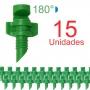 Microaspersor Single Piece 180º - 15 Unidades