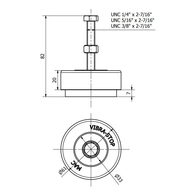 Amortecedor de vibração VIBRA-STOP - MAC