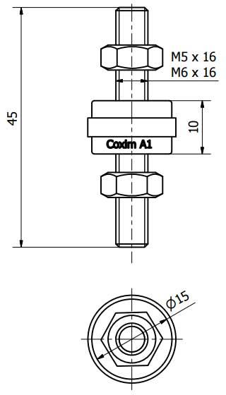 Coxim Vibra-Stop A1 - 2 Unidades