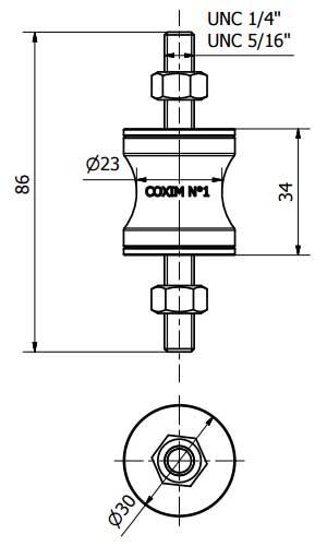 Coxim Vibra-Stop N.1 1/4 - Kit 3 Unidades