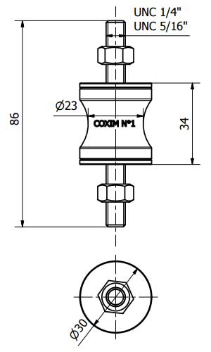 Coxim Vibra-Stop N.1 Para Motores e Compressores