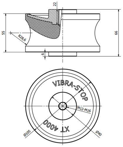 Coxim Vibra-Stop XT4000 M12