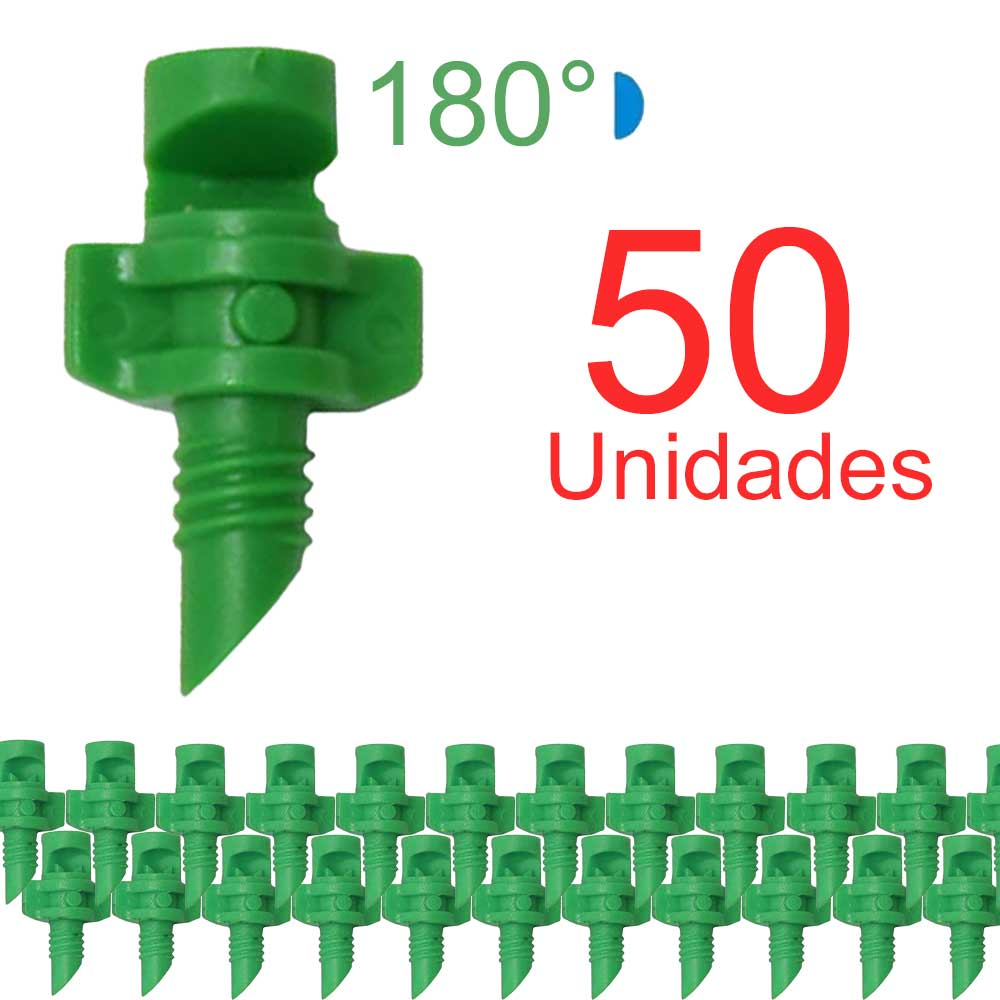 Microaspersor Single Piece 180º - 50 Unidades