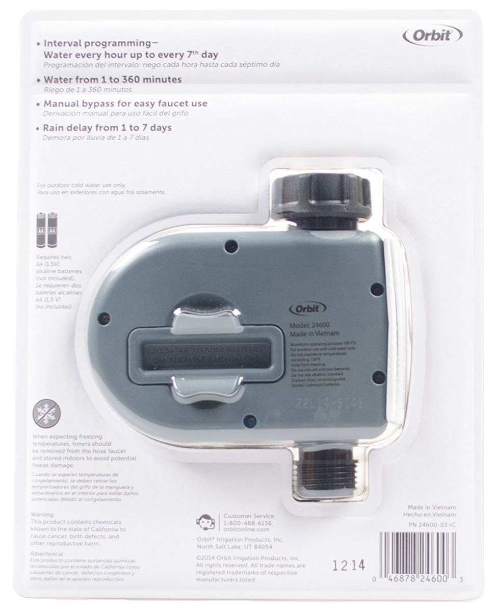 Temporizador Digital para Torneira com 1 Saída - Orbit