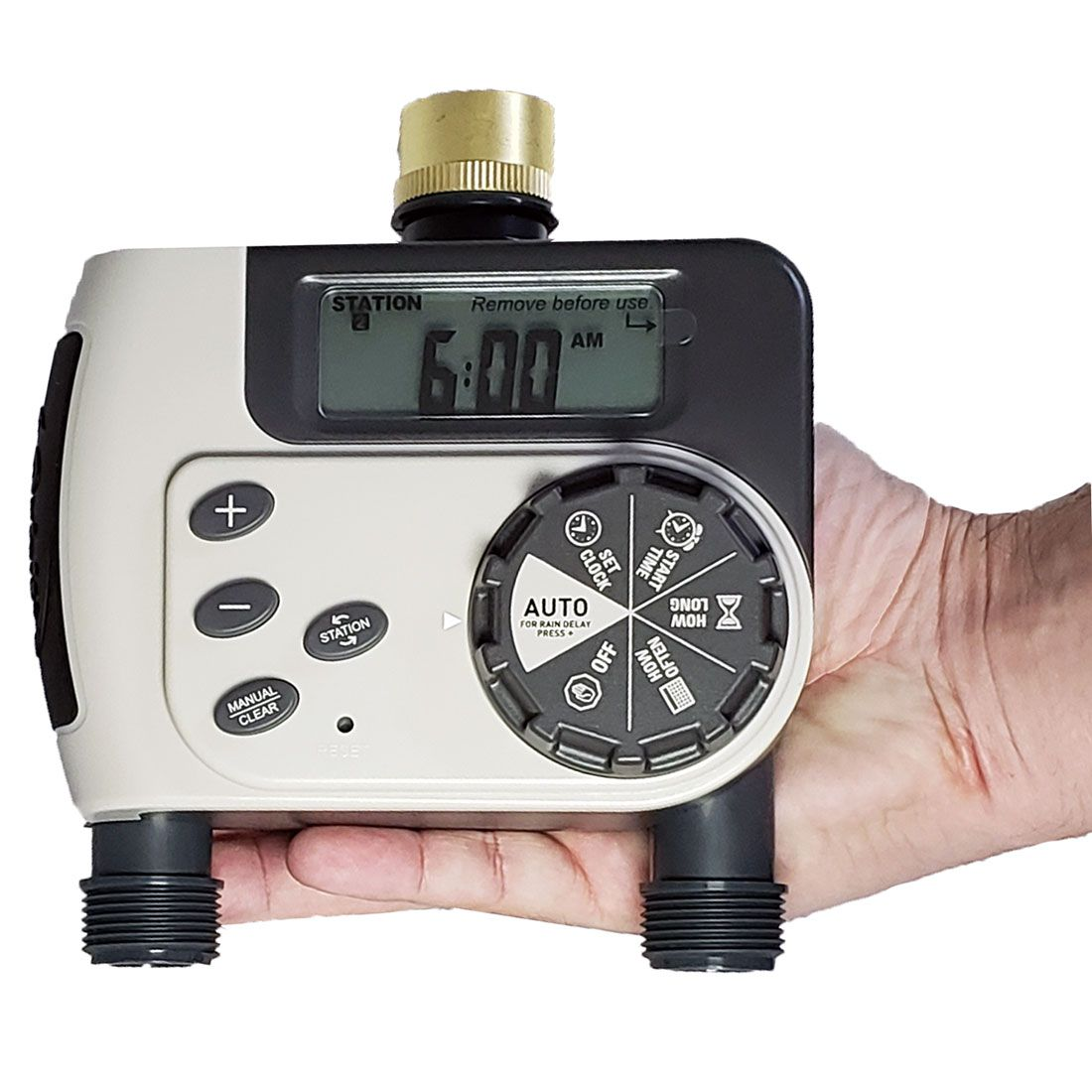 Temporizador Digital para Torneira com 2 Saídas - Orbit