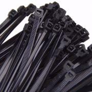Abraçadeira de Nylon 10-cm Preta Pacotes com 100 unidades