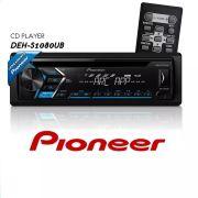 CD Player Automotivo Pioneer DEH-S1080UB 1 Din USB AUX RCA AM FM MP3 Smartphone Aplicativo Mixtrax