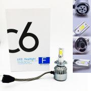 Lâmpada LED C6 H1 H3 H4 H7 H11 HB3 HB4 H16 H27 6500K