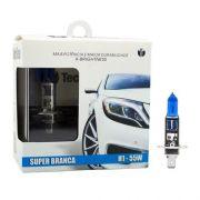 Lâmpada Super Branca H1 55W 12V Efeito Xênon 8500K