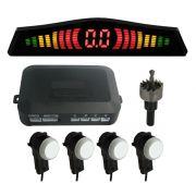 Sensor de Estacionamento 4 Pontos C/ Display em Led Colorido Meia Lua  Original OEM