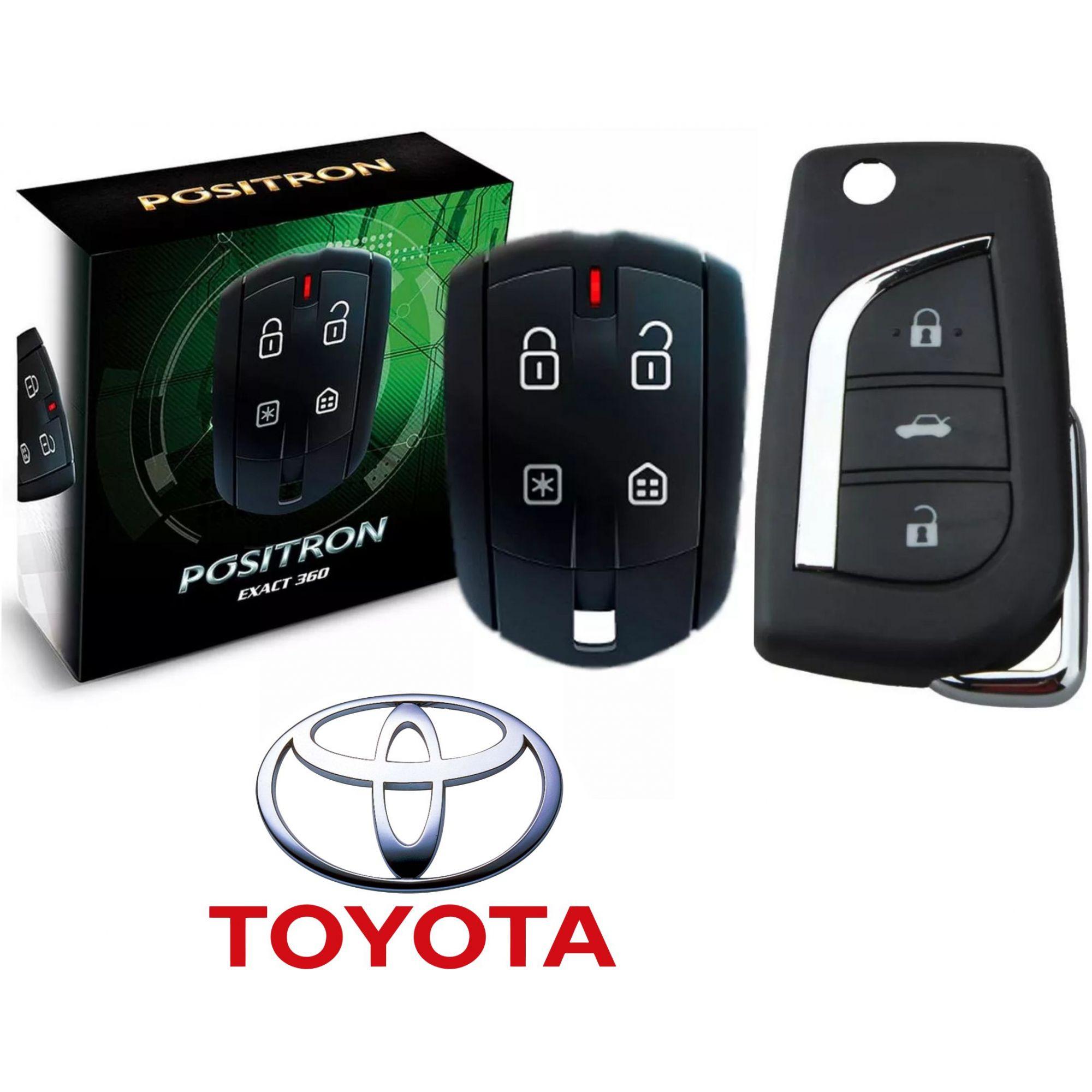 Alarme Carro Automotivo Pósitron Ex 360 Exact Universal + Chave Canivete TOYOTA