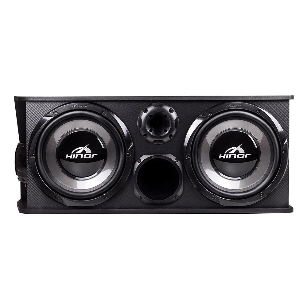 Caixa de Som Automotiva Amplificada Hinor Box Trio Two 250w Rms