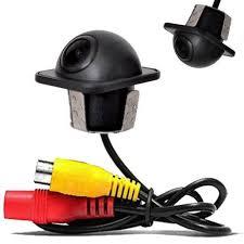 Câmera de Ré Com Sensor de Curva Colorida Tartaruga Universal Preta Entrada RCA