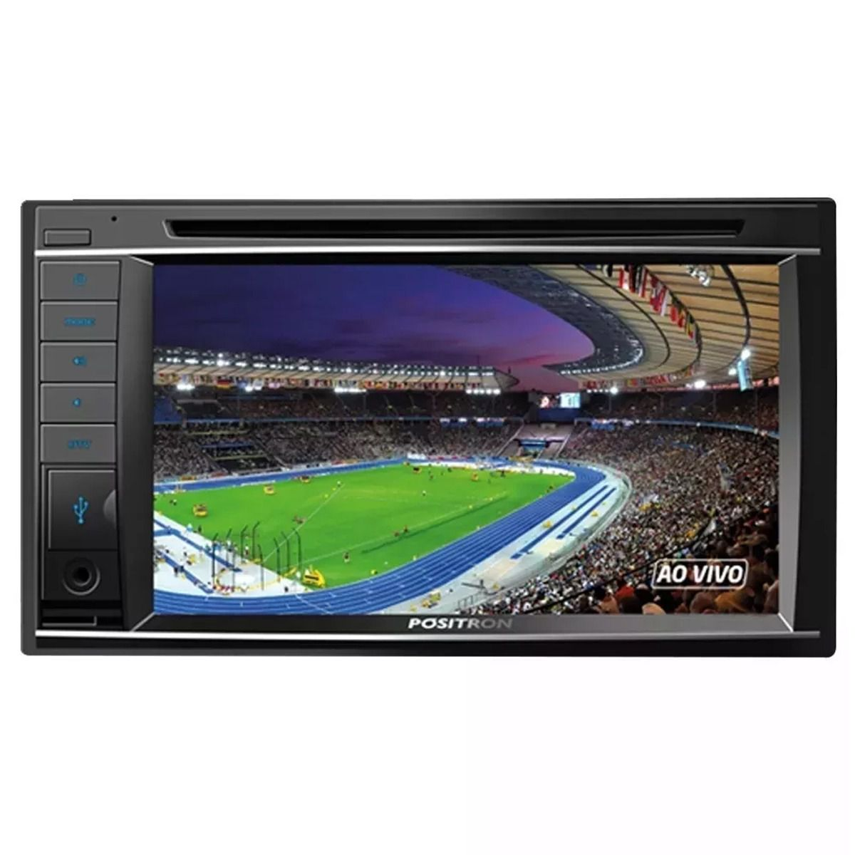 Central Multimídia Pósitron SP8730 DTV 2 Din 6.2 Pol Touch Espelhamento Bluetooth TV USB CD DVD MP3