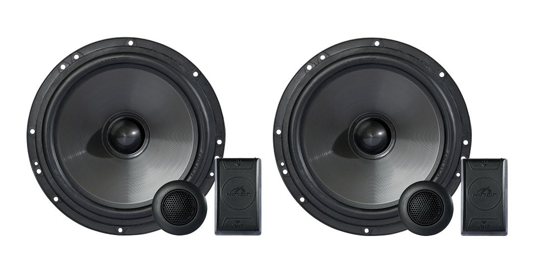 Kit 2 Vias Hinor Alto Falante 6 Pol 140w Crossover Tweeter