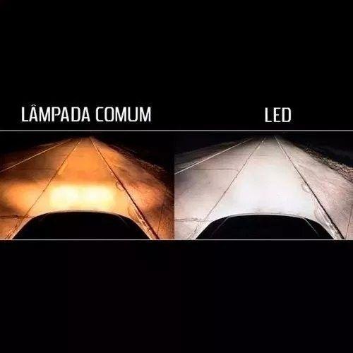 Kit Super Led Lampada H1 H3 H4 H7 H11 HB3 HB4 H27 6000k Super Branca 6400 Lumens