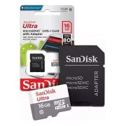 Cartao Memoria Sandisk 16GB Micro sd Ultra SDHC