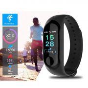 Relógio Inteligente Smartband M3 Sport  Preto (Pedometro Km Kcal FC PA Sono)