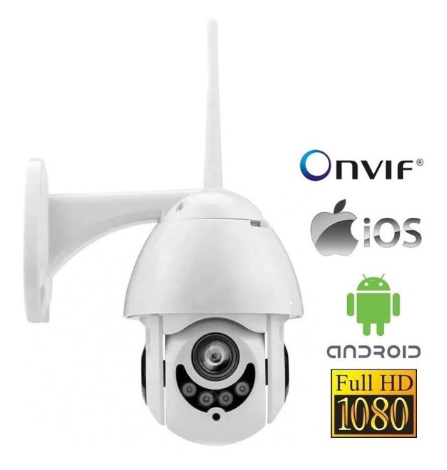 Câmera Speed Dome IP Onvif 2.0 mp 1080p sd Prova D' Agua