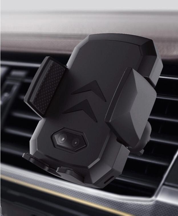 Carregador Indução Sem Fio 2 em 1 de Mesa + Carregador Indução Suporte Veicular