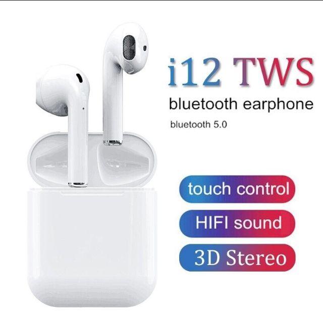 Fone de Ouvido Sem Fio Bluetooth 5.0 I12 Tws Touch