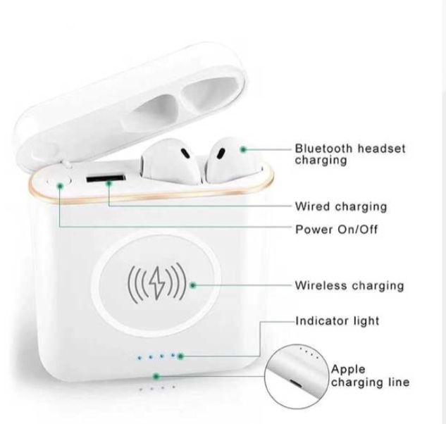 Power bank 3 em 1 Carregador Portatil Inducao S/ Fio Wireless c/ Fone de Ouvido Bluetooth XT6 Tws