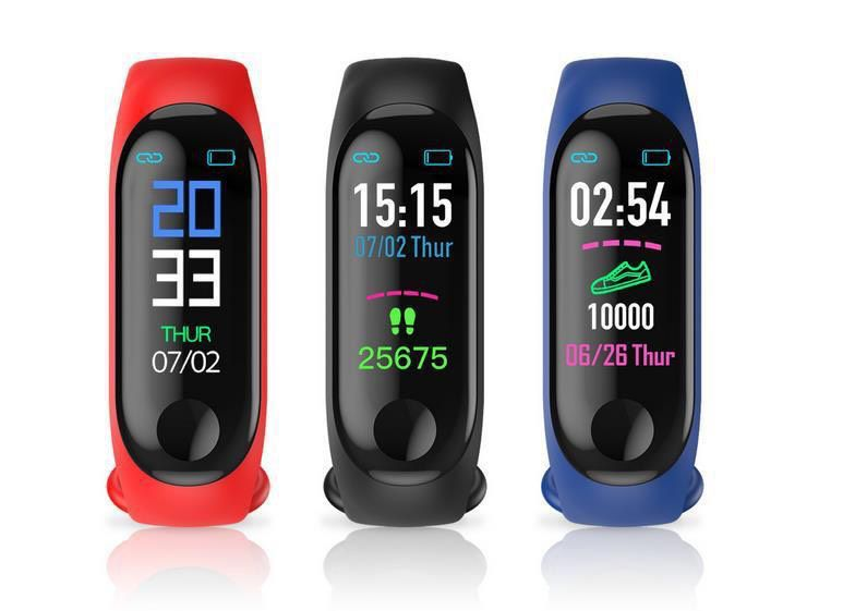 Relógio Inteligente Smartband M3 Sport  Azul (Pedometro Km Kcal FC PA Sono)