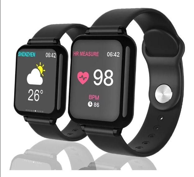 Relogio Inteligente Smartwatch B57 Preto Hero 3 Pedometro Multi-esportes Km Kcal FC PA Sono