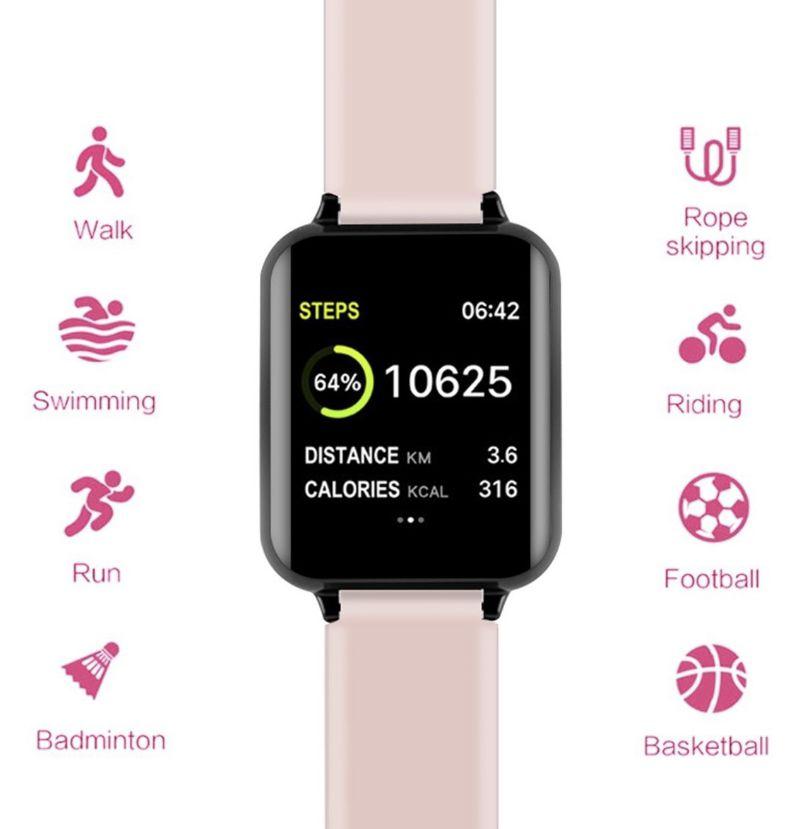 Relogio Inteligente Smartwatch B57 Rosa Hero 3 Pedometro Multi-esportes Redes Sociais