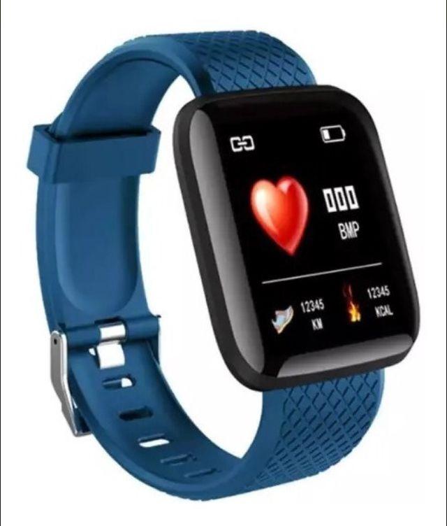 Relogio Inteligente Smartwatch D13 Azul Pedometro Multi-esportes Km Kcal FC PA Sono