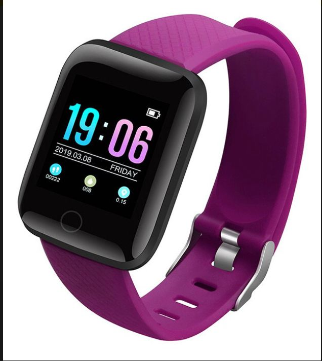 Relogio Inteligente Smartwatch D13 Roxo (Fucsia) Pedometro Multi-esportes Km Kcal FC PA Sono