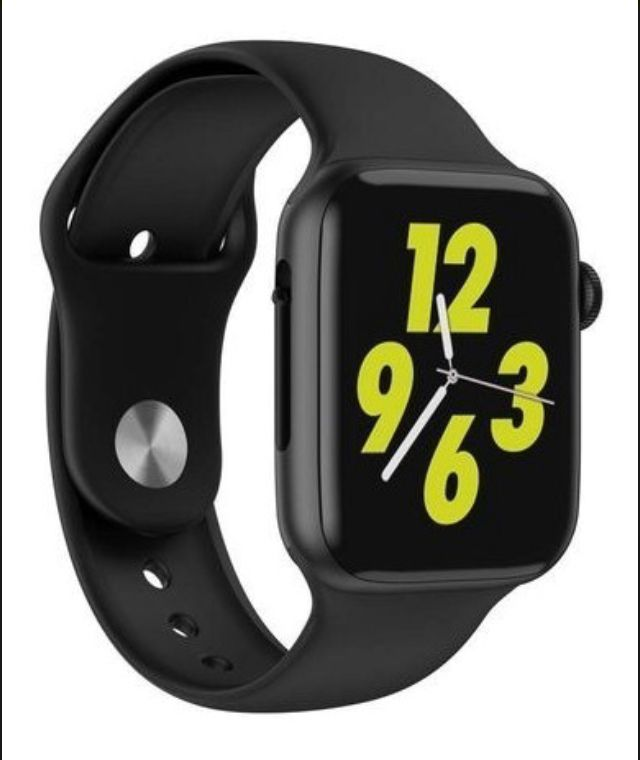 Relogio Inteligente Smartwatch Preto 44mm IOS Android