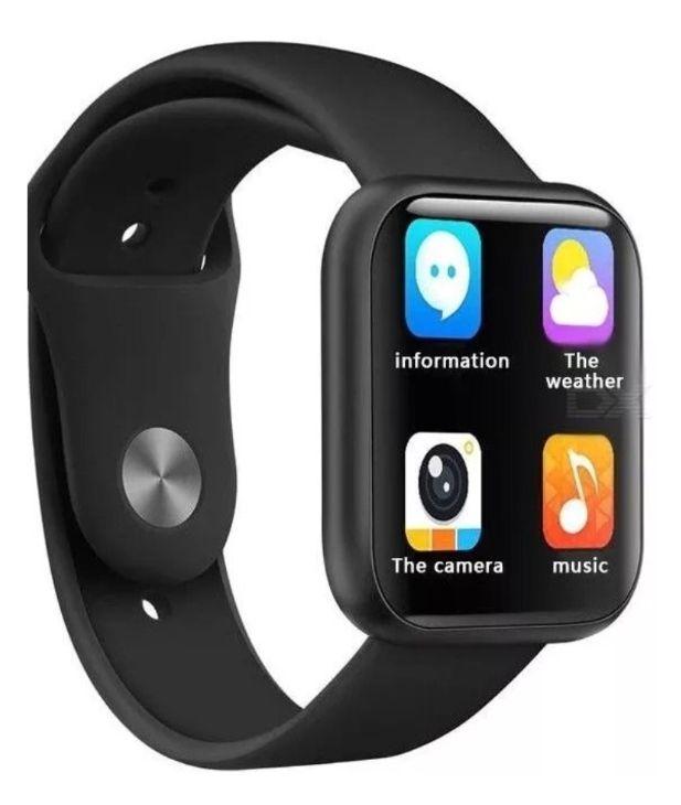 Relogio Inteligente Smartwatch P80 Preto + Fone de Ouvido Bluetooth i12 touch