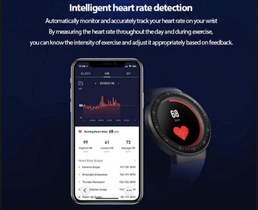 Relogio Inteligente Smartwatch V15 Preto Pedometro Multi-esportes Redes Sociais