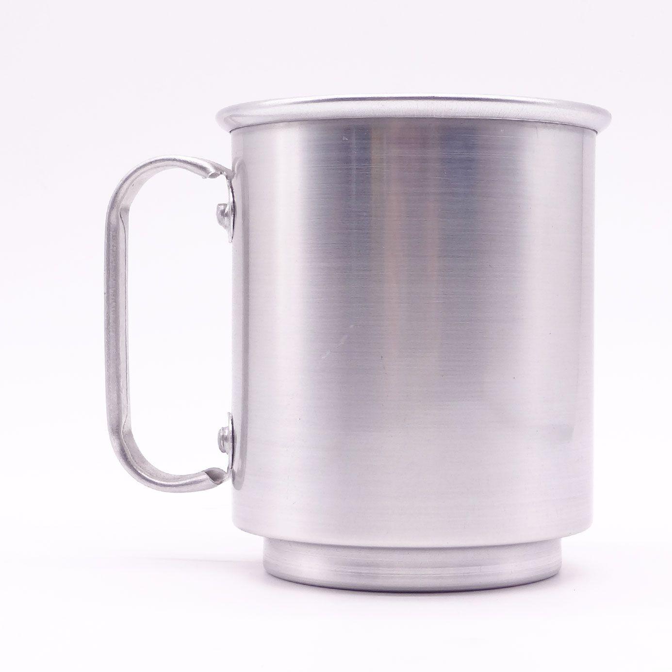 Caneca Chopp alumínio brilhante  - Caixa com 12 unidades