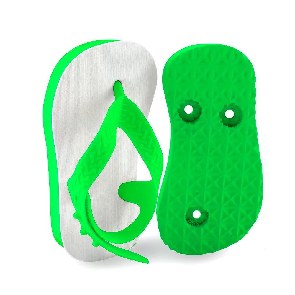 Chinelo baby para sublimação - Verde