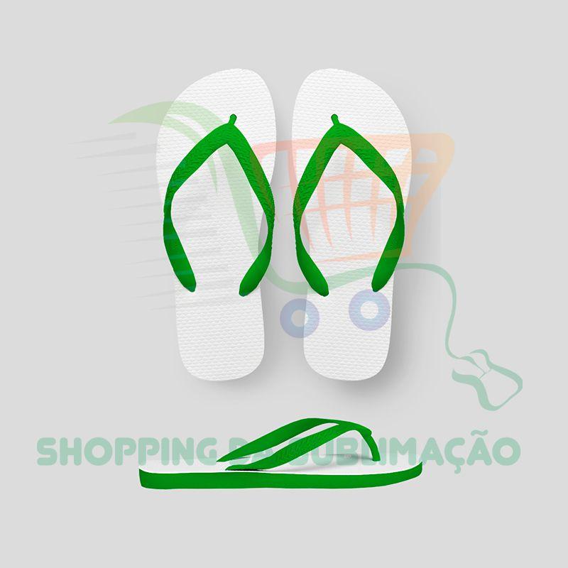 Chinelo infantil para sublimação - Verde