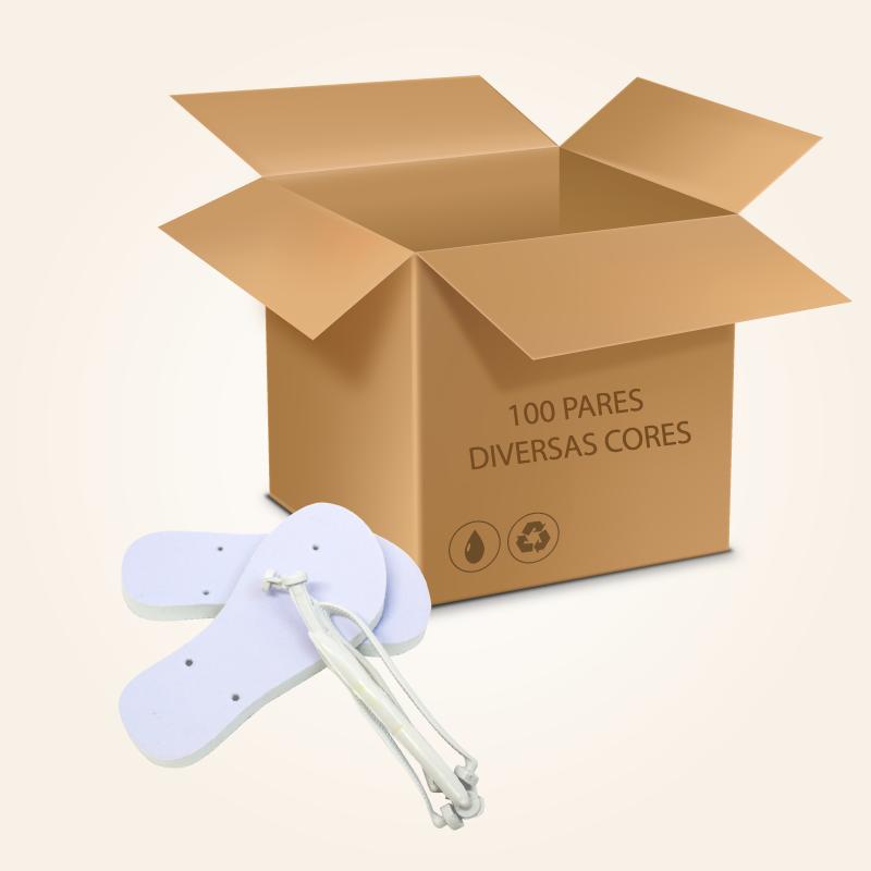 Kit 100 pares de Chinelo sublimação