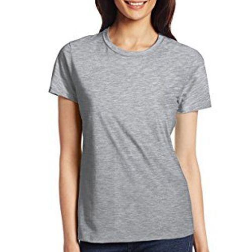 Camiseta Cinza Feminina Manga Curta Para Sublimação
