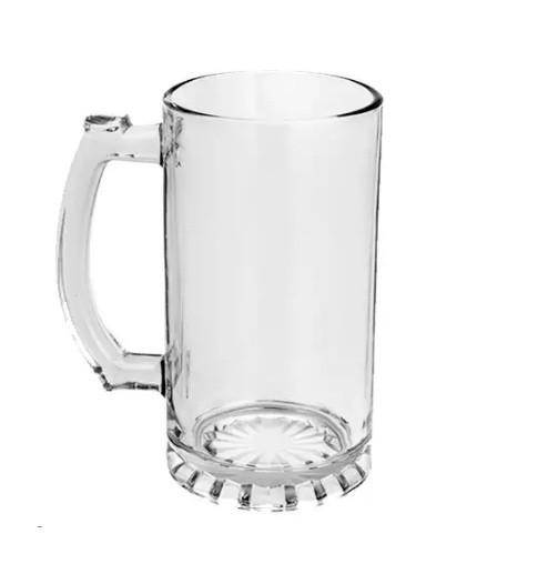 Caneca De Chopp Em Vidro Cristal - 475 Ml  - Via Silk