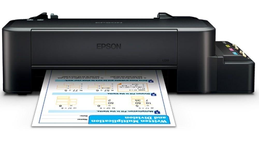 Impressora Sublimática  L120 + Bulk DE 4 Tintas Sublimaticas DE 100ML Genesis