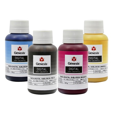 Tinta Sublimática Gêneses 100ml Kit  - Via Silk