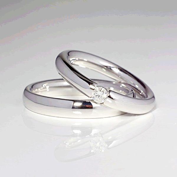 Alianças Casamento Noivado São Paulo Ouro Branco 4mm - A090